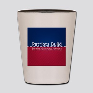 Patriots Build Shot Glass