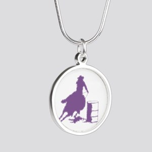 Purple Barrel Racer Female Silver Round Necklaces