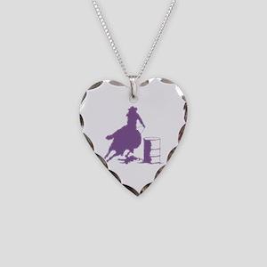 Purple Barrel Racer Female Ri Necklace Heart Charm