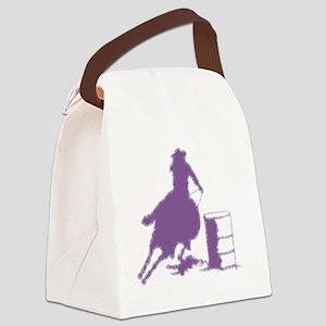 Purple Barrel Racer Female Rider Canvas Lunch Bag