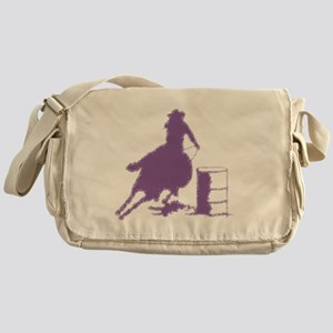 Purple Barrel Racer Female Rider Messenger Bag