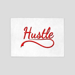 Hustle Distressed Typography 5'x7'Area Rug