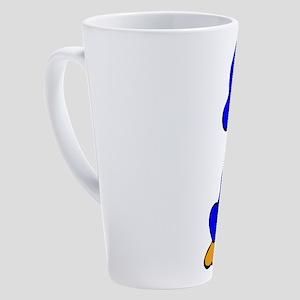 Blue Baby Duck 17 oz Latte Mug