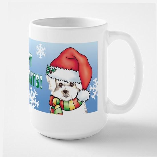 Holiday Maltese Large Mug