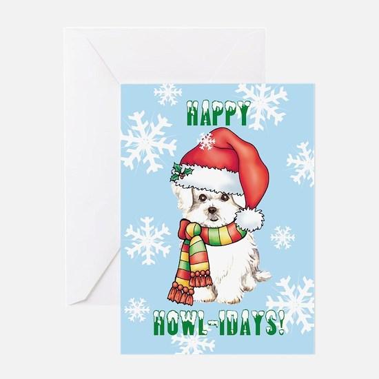 Holiday Maltese Greeting Card