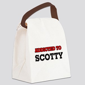Addicted to Scotty Canvas Lunch Bag