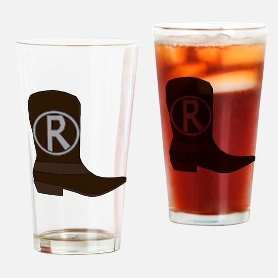 Cute Cowboy boot Drinking Glass