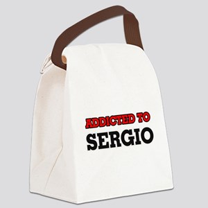 Addicted to Sergio Canvas Lunch Bag