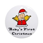 Baby's First Christmas Ornament (Round)