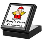 Baby's First Christmas Keepsake Box