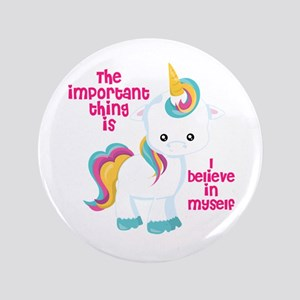 Button Unicorn I Believe In Myself