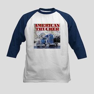 American Trucker Kids Tee Baseball Jersey