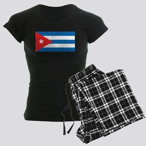 Cuban Flag Women's Dark Pajamas