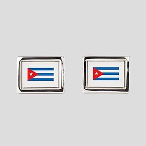 Cuban Flag Rectangular Cufflinks