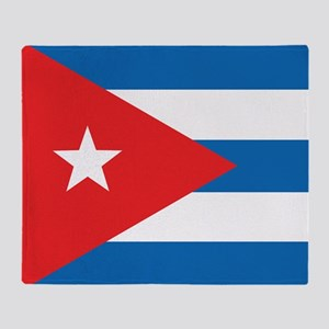 Cuban Flag Throw Blanket