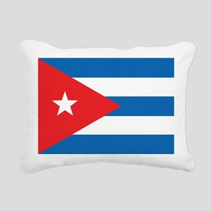 Cuban Flag Rectangular Canvas Pillow