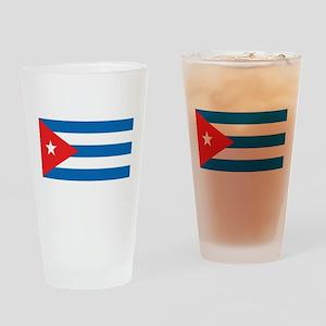Cuban Flag Drinking Glass