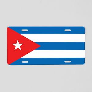 Cuban Flag Aluminum License Plate