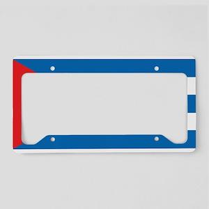 Cuban Flag License Plate Holder