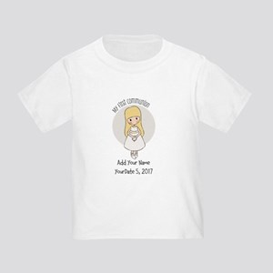 First Communion Blonde Toddler T-Shirt