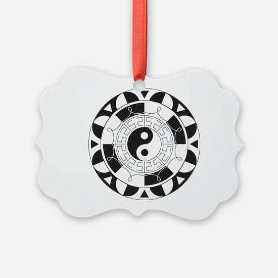 Yin & Yang Mandala Ornament