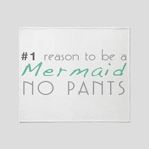 Mermaid No Pants Throw Blanket