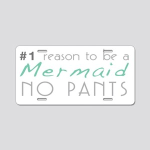 Mermaid No Pants Aluminum License Plate
