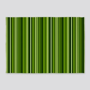 Green on Green Stripes 5'x7'Area Rug