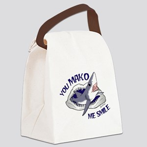 Mako me smile Canvas Lunch Bag