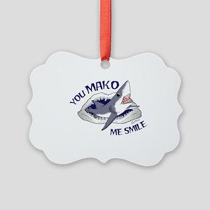 Mako Me Smile Picture Ornament