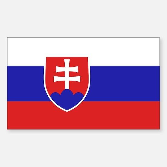 Slovak Flag Rectangle Decal