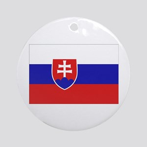Slovak Flag Ornament (Round)