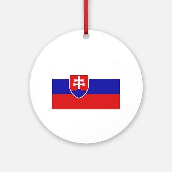 Slovak Flag Ornament (Round)