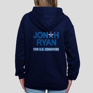JONAH RYAN for US CONGRESS Women's Zip Hoodie