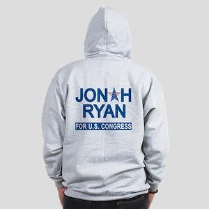 JONAH RYAN for US CONGRESS Zip Hoodie