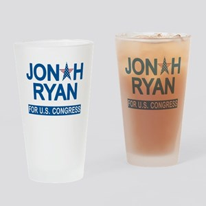 JONAH RYAN for US CONGRESS Drinking Glass