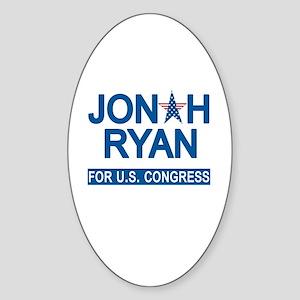 JONAH RYAN for US CONGRESS Sticker (Oval)