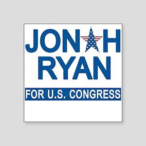 "JONAH RYAN for US CONGRESS Square Sticker 3"" x 3"""