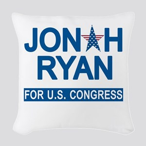 JONAH RYAN for US CONGRESS Woven Throw Pillow