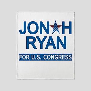 JONAH RYAN for US CONGRESS Throw Blanket