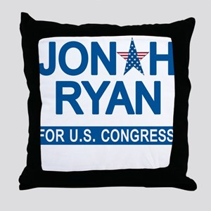 JONAH RYAN for US CONGRESS Throw Pillow