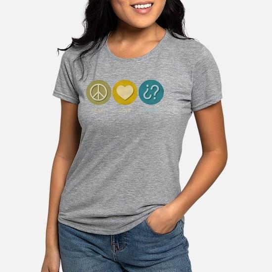 Peace Love Spanish Women's Dark T-Shirt