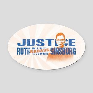 Ruth Badass Ginsburg Oval Car Magnet
