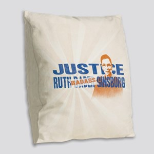 Ruth Badass Ginsburg Burlap Throw Pillow