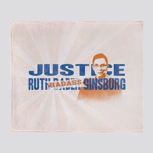 Ruth Badass Ginsburg Throw Blanket