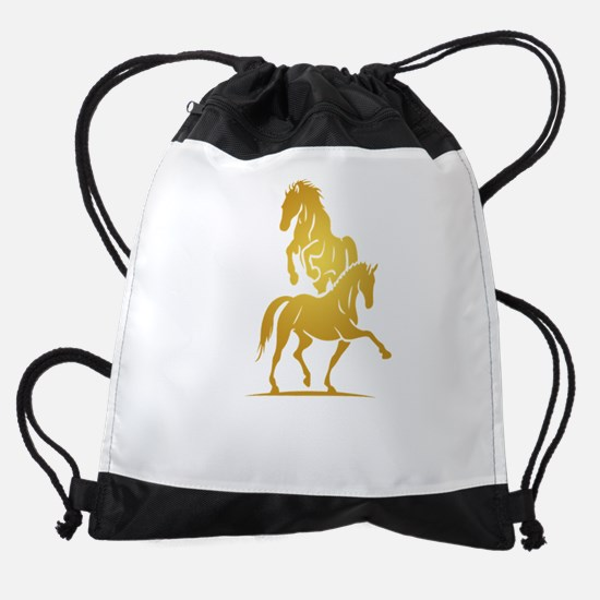 i love horse Drawstring Bag
