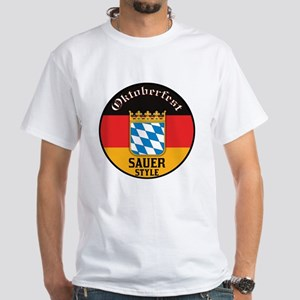 Sauer Oktoberfest White T-Shirt