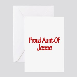 Proud Aunt of Jesse Greeting Card