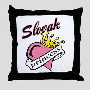 Slovak Princess Throw Pillow