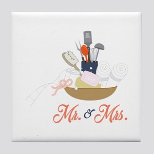 Mr & Mrs Tile Coaster